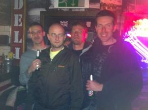 Scott, Idiot, Erik, and Robin.