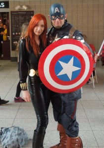 Black Widow and Cap.