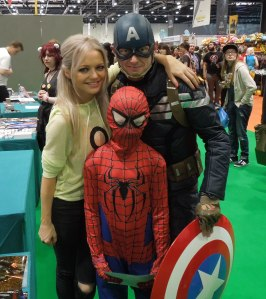 Hannah Spearritt and a couple of heroes.